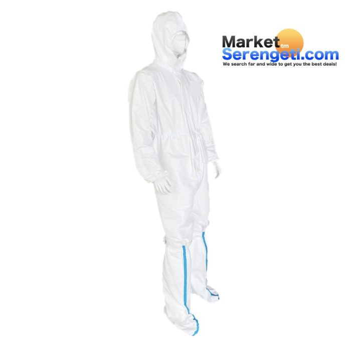RIGHT SIDE VIEW - Disposable epidemic overalls or coveralls suite