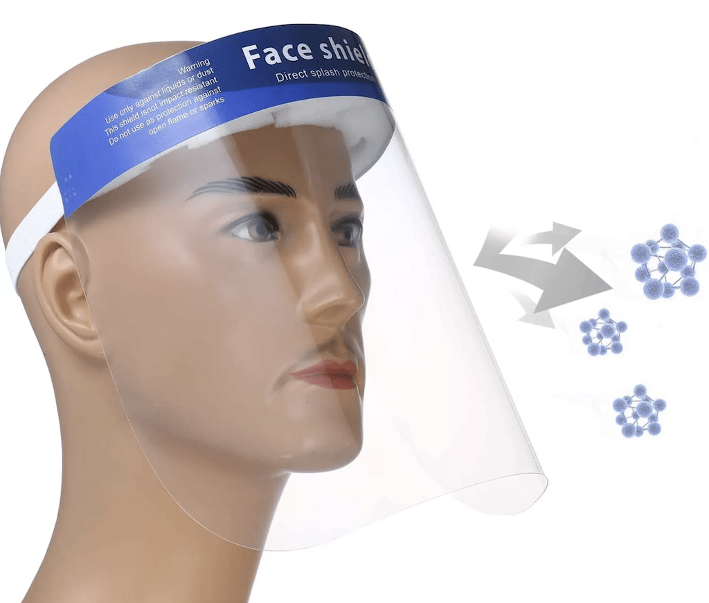 Face Shield Anti-Saliva- Right View