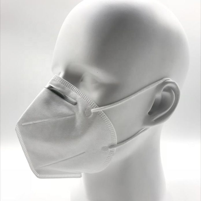 KN95 respirator - Left Side View