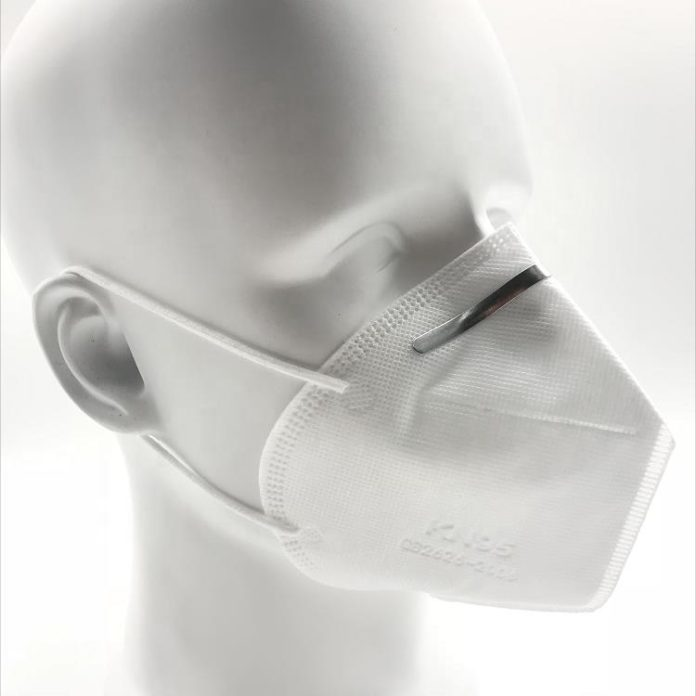 KN95 respirator - Right Side View