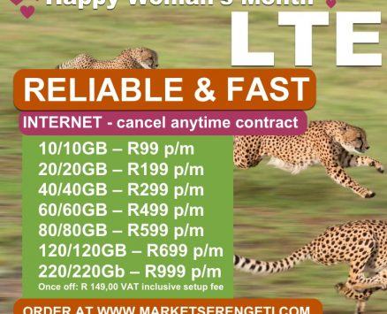 Telkom LTE Wireless Internet *SIM Card Only (Get Same GIGS During The Day and At Night on Cancel Anytime Contract)