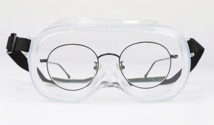 Safety glasses can fit over Spectacles