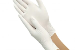 LATEX examination gloves white colour