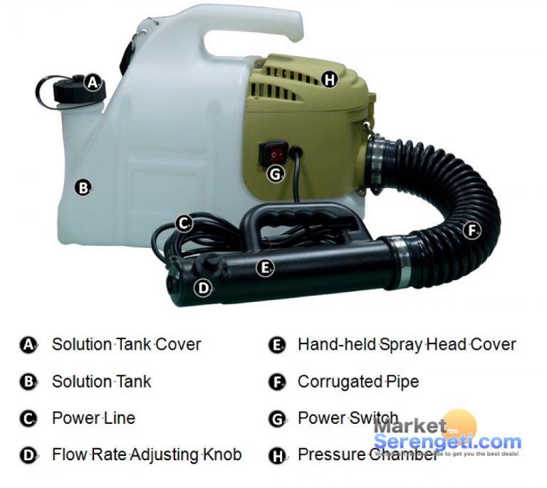 Pest control equipement electric motor sprayer ULV cold fogger