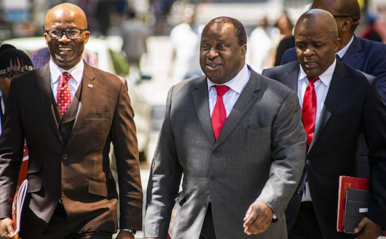 South Africa's Finance Minister Tito Mboweni Reveals First Budget