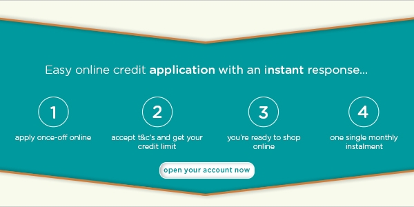 Easy online credit application with an instant response.